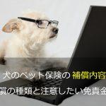 犬のペット保険の補償内容 補償の種類と注意したい免責金額